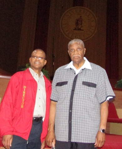 Dr. Cooper with Tuskegee Choir Director, Dr. Wayne Barr.