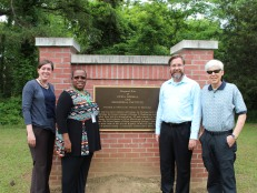 Kristi, Jean, Dan, and Bill at the original site of the Holtzclaw Institute.