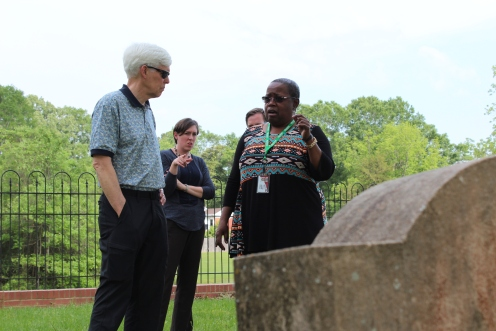 Visiting the Holtzclaw cemetery on campus