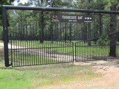 The gate to the original Tuskegee Army Airfield.