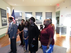 At the Selma Interpretative Center, this exhibit allows you to march with the participants.