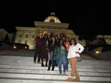On the steps of the capital in Montgomery.