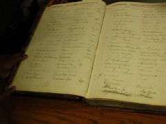 Found in the archives: William H. Holtzclaw's signature in BTW's visitor log!