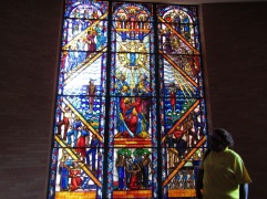 The Singing Window features lyrics from Negro Spirituals in the Tuskegee Chapel.