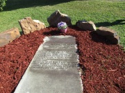 Carver's gravesite at Tuskegee.
