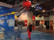 Red tails at the Tuskegee Airmen museum.
